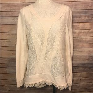 Angel Of The North Lace Knit Sweater Crochet